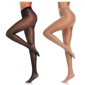 Women Lace Top Sexy Stocking Over Knee Thigh High Hosiery Ultrathin Sheer Nylon Super Sheer Elastic-free Waistband Tummy Control